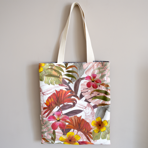 Tote bag + neceser tropical pink